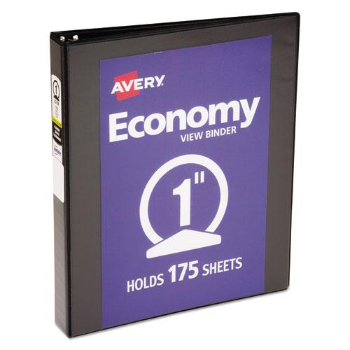 avery economy view binder w round rings 11 x 8 1 2 1 cap black