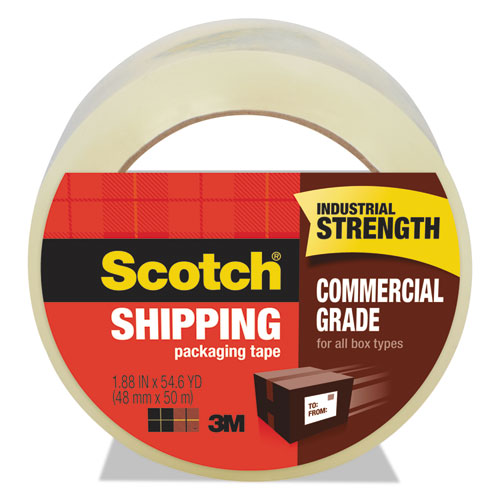 """3750 Commercial Grade Packaging Tape, 3"""" Core, 1.88"""" x 54.6 yds, Clear 