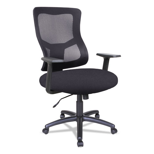 Alera® Alera Elusion II Series Mesh Mid-Back Swivel/Tilt Chair, Black