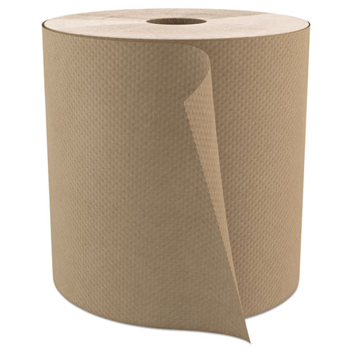 """Cascades PRO Select Roll Paper Towels, 1-Ply, 7.9"""" x 800 ft, Natural, 6/Carton"""