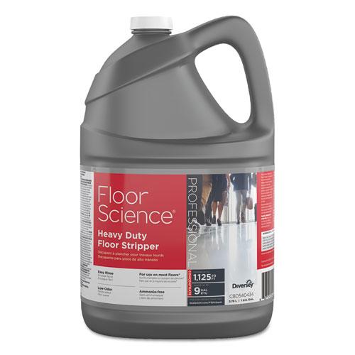 Diversey™ Floor Science Heavy Duty Floor Stripper, Liquid, 1 gal Bottle, 4/Carton