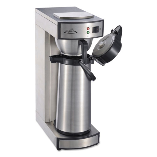 Air Pot Brewer, Stainless Steel, 75 oz, 8 3/4 x 14 3/4 x 21 1/4 CPRLA