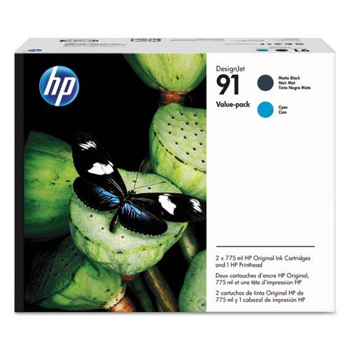 HP 91 P2V35A Black Cyan Printhead Original Ink Cartridge Value Pack HEWP2V35A