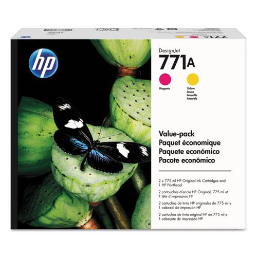HP 771A, (P2V48A) Magenta, Yellow Printhead Original Ink Cartridge Value Pack