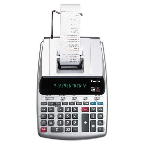 Canon® MP25DV 12-Digit Ribbon Printing Calculator, Black/Red Print, 4.3 Lines/Sec