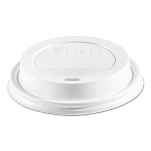 Traveler Cappuccino Style Dome Lid, Polypropylene, Fits 10-24 oz Hot Cups, White, 1000/Carton