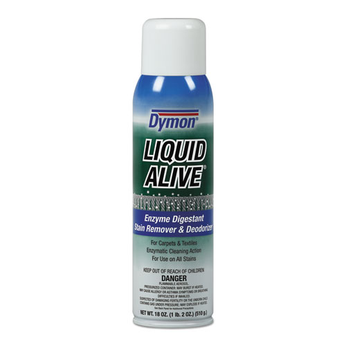 Dymon® LIQUID ALIVE Carpet Cleaner/Deodorizer, 20oz, Aerosol