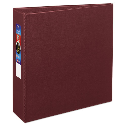"""Heavy-Duty Non-View Binder with DuraHinge and Locking One Touch EZD Rings, 3 Rings, 3"""" Capacity, 11 x 8.5, Maroon 