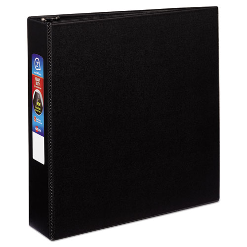 """Heavy-Duty Non-View Binder with DuraHinge and Locking One Touch EZD Rings, 3 Rings, 2"""" Capacity, 11 x 8.5, Black 