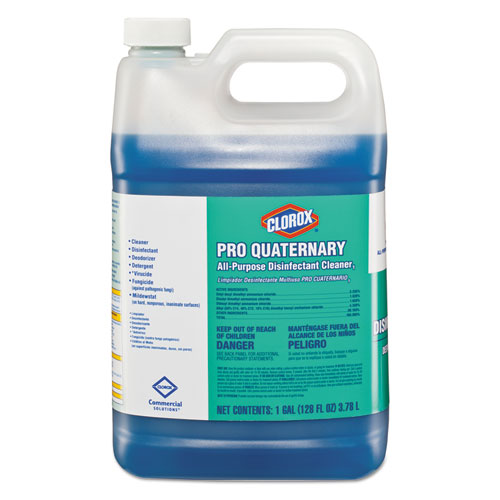 Pro Quaternary All-Purpose Disinfectant Cleaner, 128 oz Bottle, 2/Carton