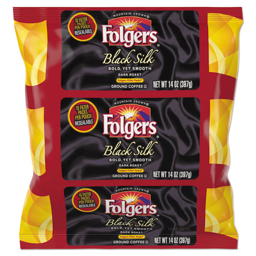 Folgers® Coffee Filter Packs, Black Silk, 1.4 oz Pack, 40Packs/Carton