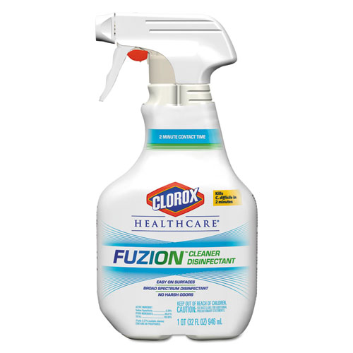 Clorox® Healthcare® Fuzion Cleaner Disinfectant Spray, Liquid, 32 oz