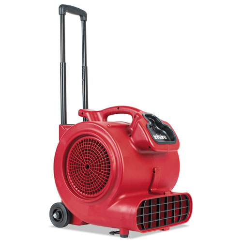 Sanitaire® DRY TIME Air Mover with Wheels and Handle, 1281 cfm, Red, 20 ft Cord