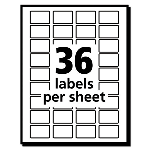 Removable Multi-Use Labels, 1/2 X 3/4, White, 1008/Pack