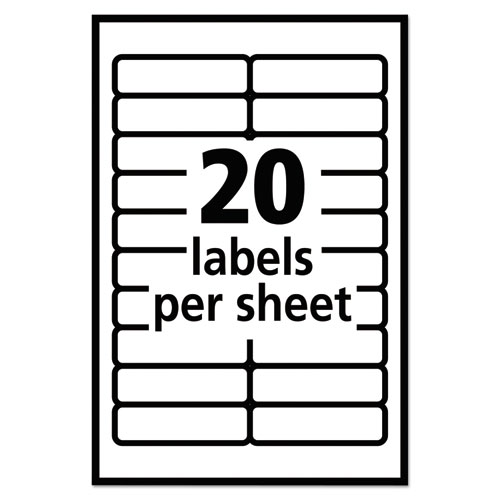 Ave05422 avery removable multi use labels zuma for Label template 65 per sheet