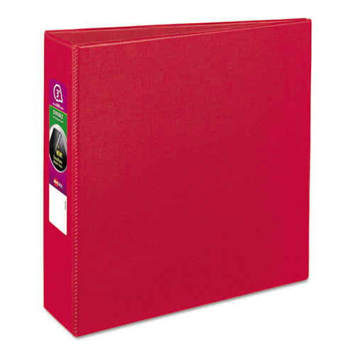 avery durable binder with slant rings 11 x 8 1 2 3 red ave27204