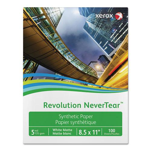 Revolution NeverTear, 8 mil, 8.5 x 11, Smooth White, 500/Ream