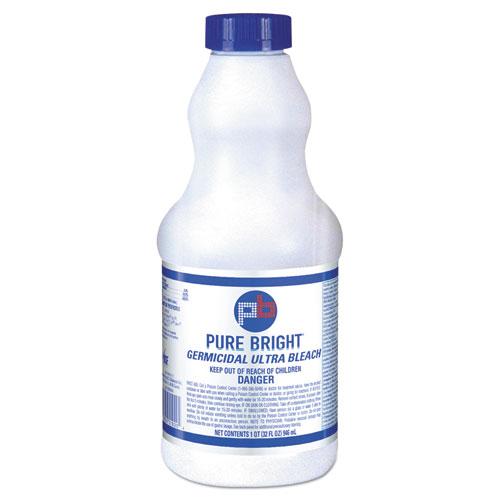 Pure Bright® Liquid Bleach, 1gal Bottle, 3/Carton