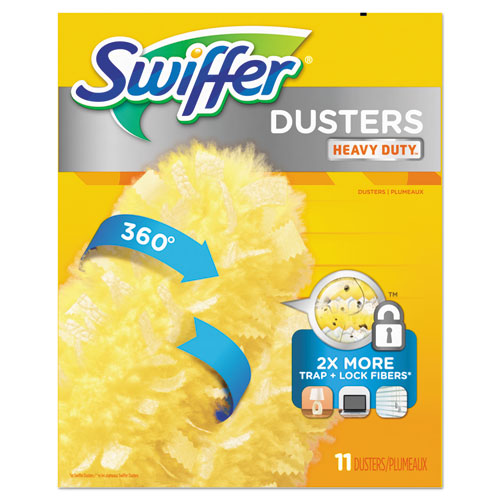 "Swiffer® 360 Dusters Refill, Dust Lock Fiber, 2"" X 6"", Yellow, 33/Carton"