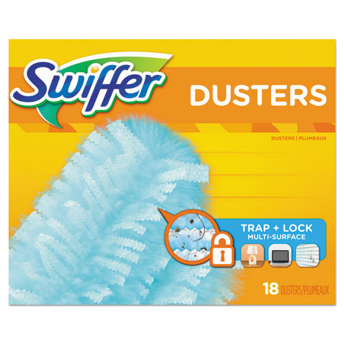 "Swiffer® 360 Dusters Refill, Dust Lock Fiber, 2"" x 6"", Light Blue, 72/Carton"