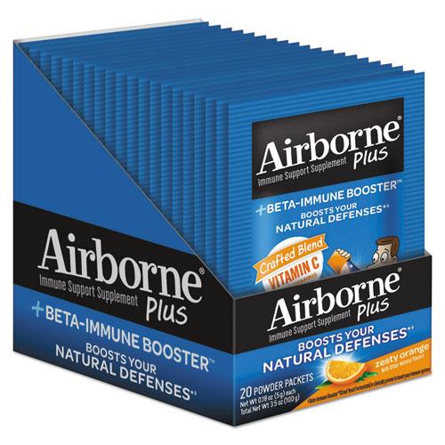 Airborne® Immune Support Supplement Plus Beta Immune Booster, 20/Pack