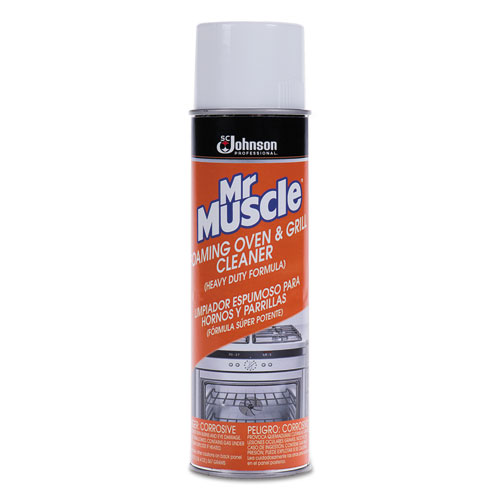 Mr. Muscle® Oven/Grill Cleaner, Solvent Scent, 20 oz, Can, 6/Carton