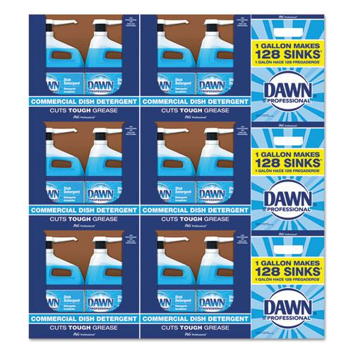 Dawn® Professional Manual Pot/Pan Dish Detergent, Original Scent, 1 gal Bottle, 132 Bottles/Pallet