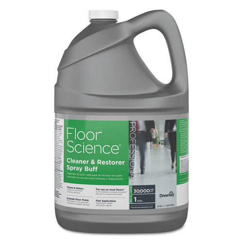 Diversey™ Floor Science Cleaner/Restorer Spray Buff, Citrus Scent, 1 gal Bottle, 4/Carton
