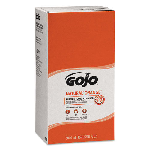 NATURAL ORANGE Pumice Hand Cleaner Refill, Citrus Scent, 5000 mL, 2/Carton