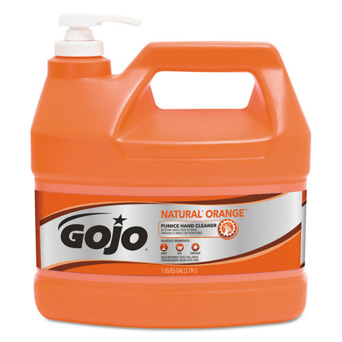 NATUAL ORANGE Pumice Hand Cleaner, Citrus, 1 gal Pump Bottle, 4/Carton