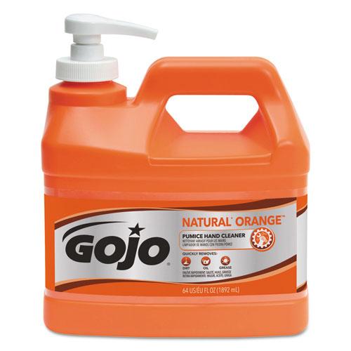 NATURAL ORANGE Pumice Hand Cleaner, Citrus, 0.5 gal Pump Bottle, 4/Carton