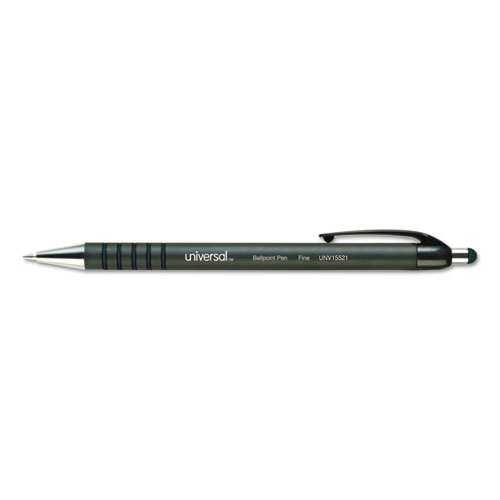 Universal™ Retractable Ballpoint Pen, Blue Ink, Fine, Dozen