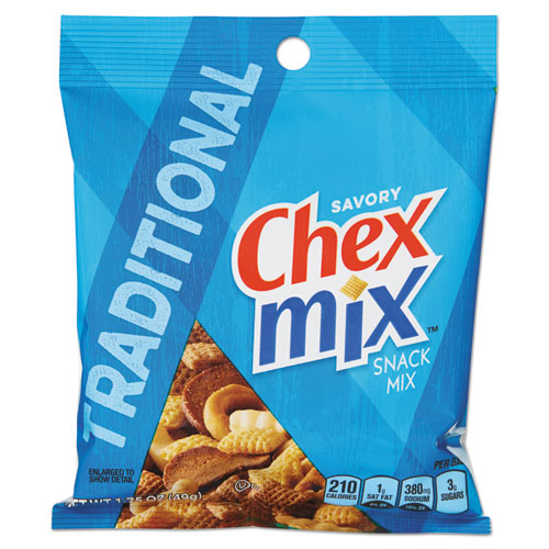 Chex Mix® Chex Mix, Cheddar Flavor Trail Mix, 3.75 oz Bag, 8/Box