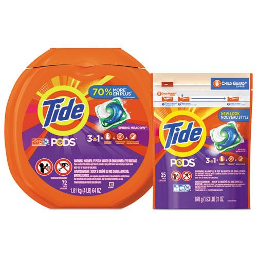 Tide® Detergent Pods, Spring Meadow Scent, 72 Pods/Pack