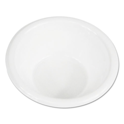 Boardwalk® Hi-Impact Plastic Dinnerware, Bowl, 5-6 oz, White, 1000/Carton