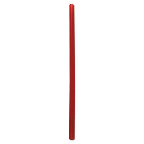 "Giant Straws, 7.75"", Polypropylene, Red, 1,500/Carton"