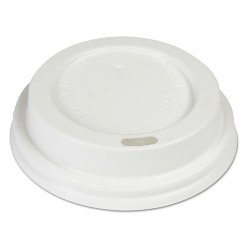 Hot Cup Lids, Fits 8 oz Hot Cups, White, 1000/Carton