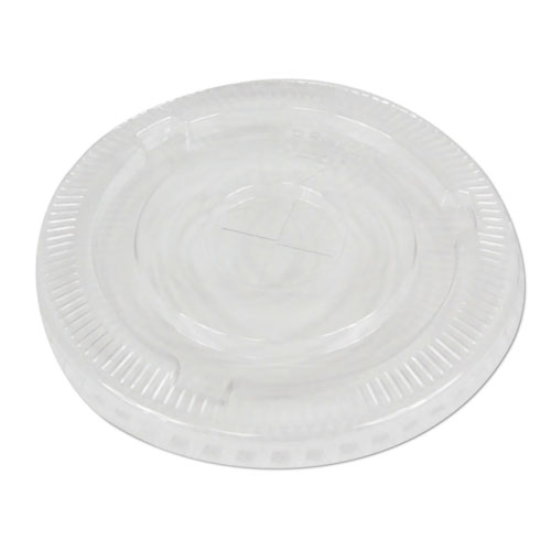 PET Cold Cup Lids, Fits 16-24 oz Plastic Cups, Clear, 1000/Carton