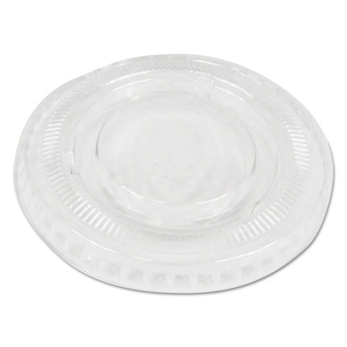 Souffl/Portion Cup Lids, Fits 2 oz Portion Cups, Clear, 2500/Carton