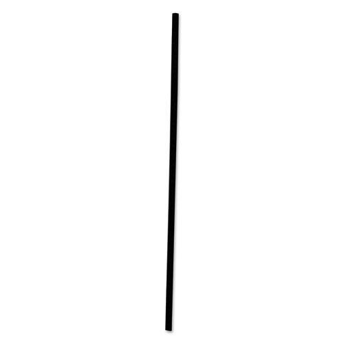 "Boardwalk® Single-Tube Stir-Straws, 5 1/4"", Black, 1000/Pack, 10/Carton"