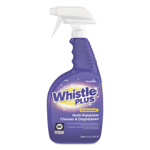 Diversey™ Whistle Plus Multi-Purpose Cleaner and Degreaser, 32oz Bottle, Citrus, 8/Carton