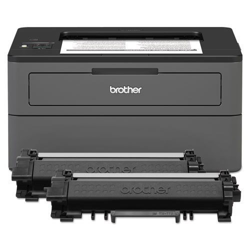 Brother HLL2370DWXL XL Extended Print Monochrome Compact Laser Printer with Up to 2-Years of Toner In-Box