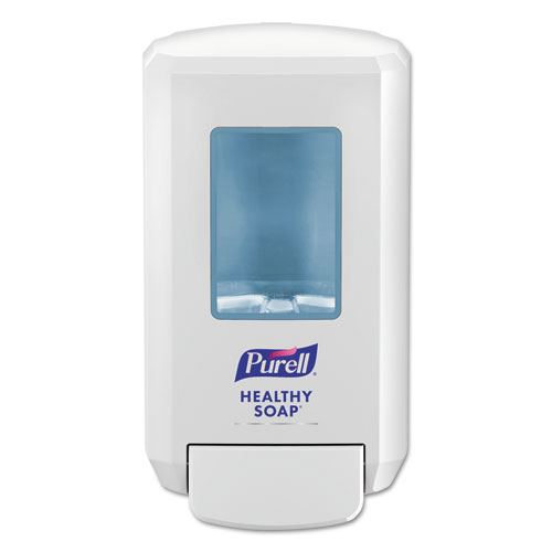 "PURELL® CS4 Soap Push-Style Dispenser, 1250mL, 4.88"" x 8.19"" x 11.38"", White"