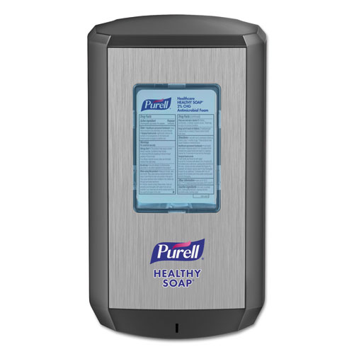 "PURELL® CS6 Soap Touch-Free Dispenser, 1200mL, 4.88"" x 8.19"" x 11.38"", Graphite"