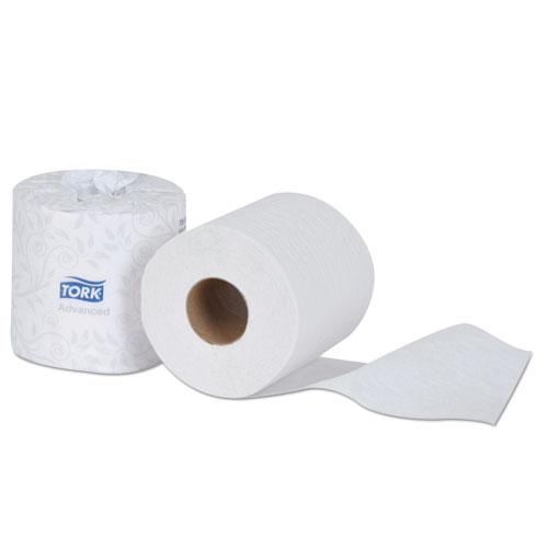 """Tork® Advanced Bath Tissue, 2-Ply, White, 4.35"""" Diameter, 550/Roll, 80 Roll/Carton"""