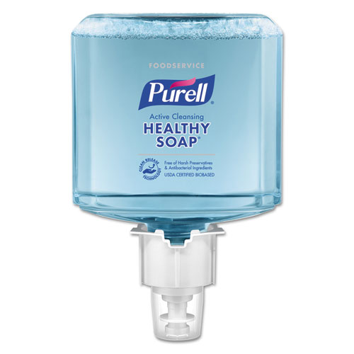 PURELL® Foodservice HEALTHY SOAP Active Cleansing Foam, 1200mL, For ES4 Dispensers, 2/CT