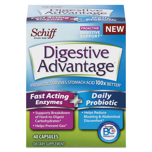Fast Acting Enzyme plus Daily Probiotic Capsule, 40 Count