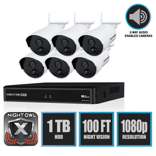 8 Channel 1080p Wireless Smart Security Hub, 3MP Resolution