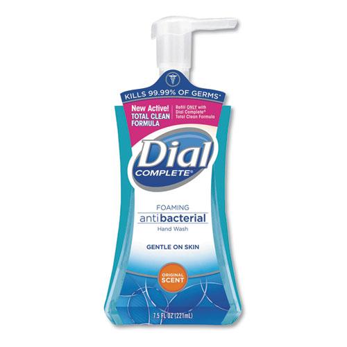 Dial® Antibacterial Foaming Hand Wash, Original Scent, 7.5oz Pump Bottle, 8/Carton