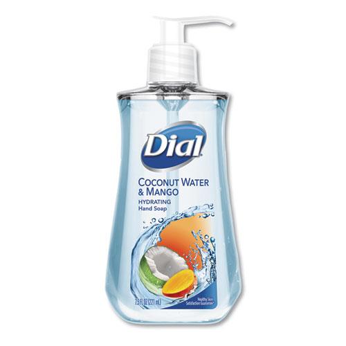 Dial® Liquid Hand Soap, 7 1/2 oz Pump Bottle, Coconut Water & Mango,12/Crtn